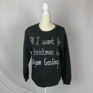 Ryan Gosling Holiday Christmas Crewneck Sweatshirt